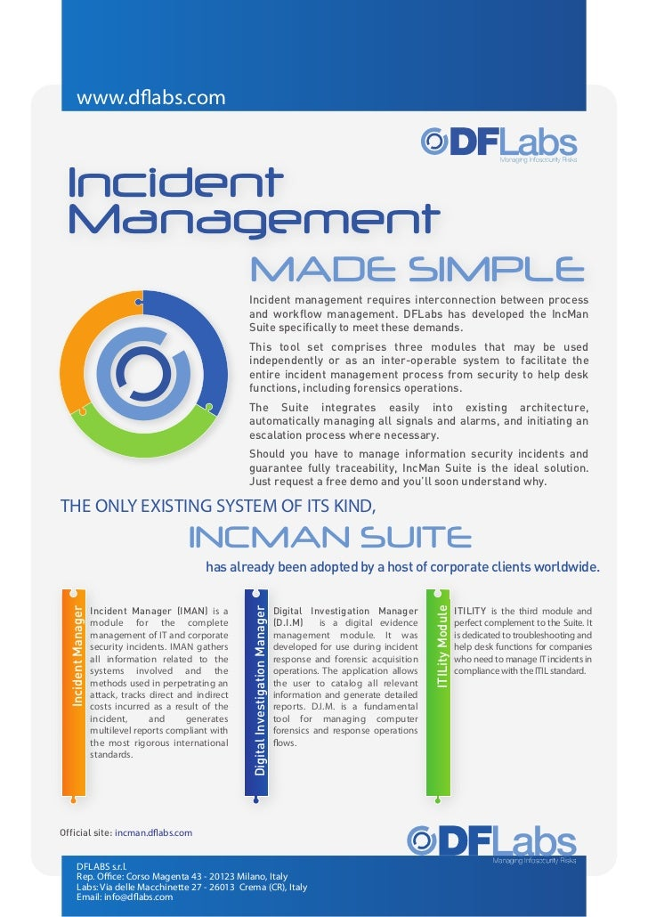www.dflabs.com Incident Management                                                          MADE SIMPLE                   ...