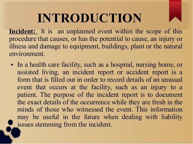 Hospital incident report procedure ozilmanoof hospital incident report procedure altavistaventures Images