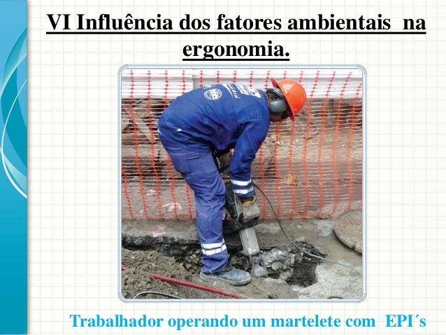 VI Influência dos fatores ambientais na ergonomia. Clima O clima de trabalho para ser considerado confortável deve atender...