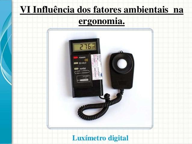 VI Influência dos fatores ambientais na ergonomia. Trabalhador equipado em contato com a produção de pó.