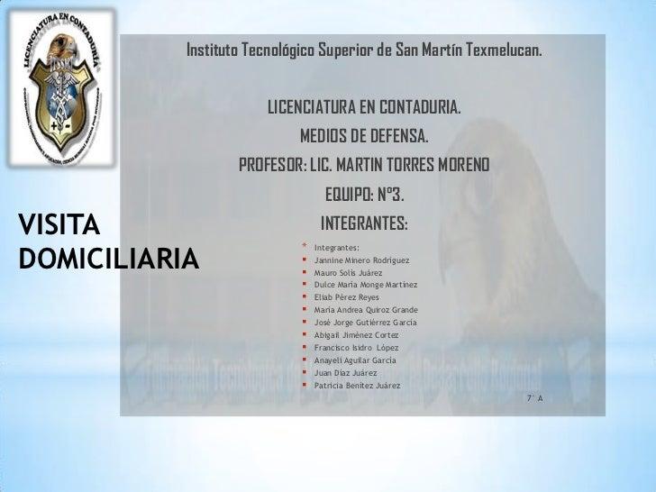 Instituto Tecnológico Superior de San Martín Texmelucan.                       LICENCIATURA EN CONTADURIA.                ...