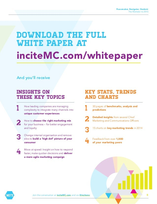 Peacemaker, Navigator, Student: The Marketer to 2015  Download the full white paper at  inciteMC.com/whitepaper And you'll...