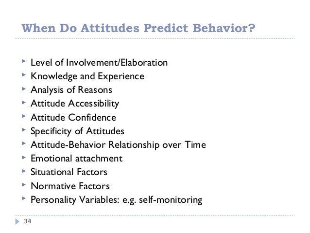 Attitudes, Behavior, and Rationalization