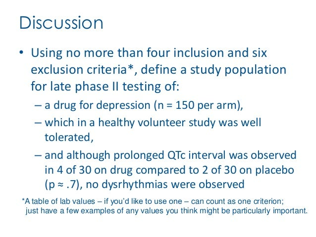 An analysis of inclusion and exclusion of individuals