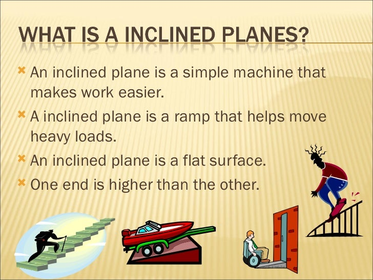 inclined planes When you have a block of ice (read: frictionless) moving down a ramp, it's being acted on by forces, which means that it's accelerated how fast is it being.
