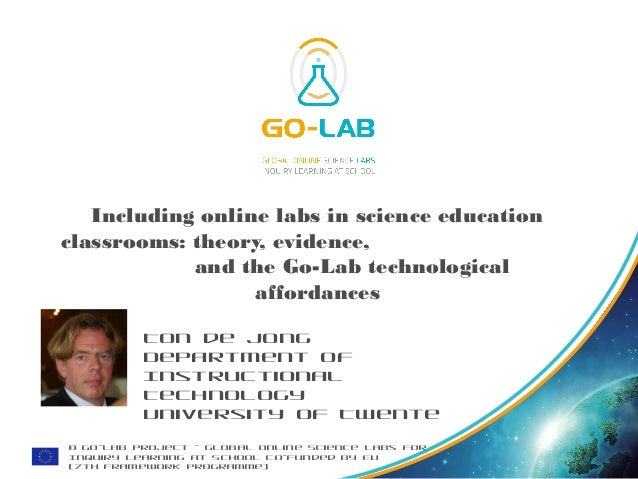 © Go-Lab Project - Global Online Science Labs for Inquiry Learning at School Co-funded by EU (7th Framework Programme) Inc...