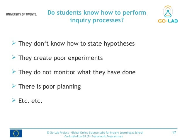  They don't know how to state hypotheses  They create poor experiments  They do not monitor what they have done  There...