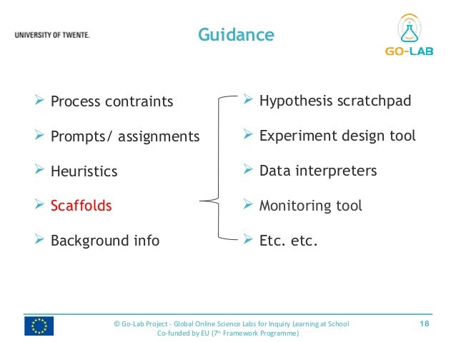 Guidance 18© Go-Lab Project - Global Online Science Labs for Inquiry Learning at School Co-funded by EU (7th Framework Pro...
