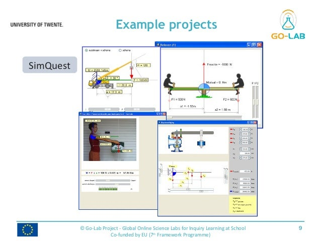 Example projects 9© Go-Lab Project - Global Online Science Labs for Inquiry Learning at School Co-funded by EU (7th Framew...