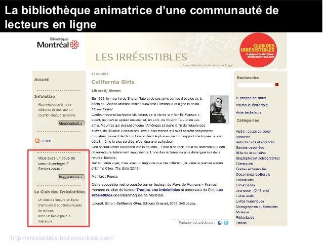 http://www.bibliothequesdanslacite.org/content/biblioth%C3%A8que-de-livres-vivants Les collections de livres vivants