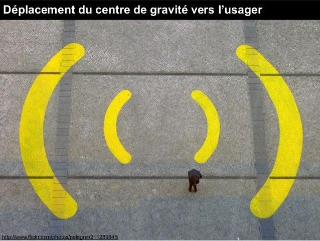 http://www.flickr.com/photos/palagret/211289845/ Déplacement du centre de gravité vers l'usager