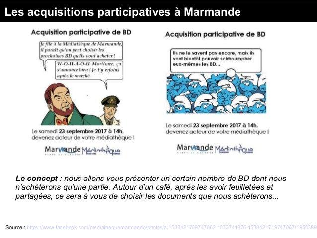 Les fonds participatifs à Lezoux Source : Penser les médiathèques de demain. Immersion créative à Lezoux - La 27ème région