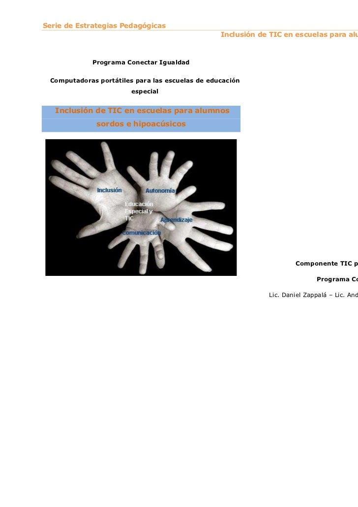 Serie de Estrategias Pedagógicas                                                 Inclusión de TIC en escuelas para alumnos...