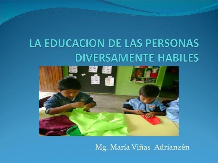 Mg. María Viñas Adrianzén