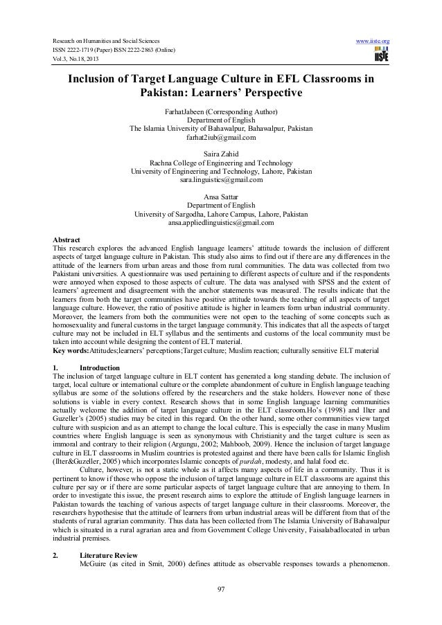 Research on Humanities and Social Sciences ISSN 2222-1719 (Paper) ISSN 2222-2863 (Online) Vol.3, No.18, 2013  www.iiste.or...