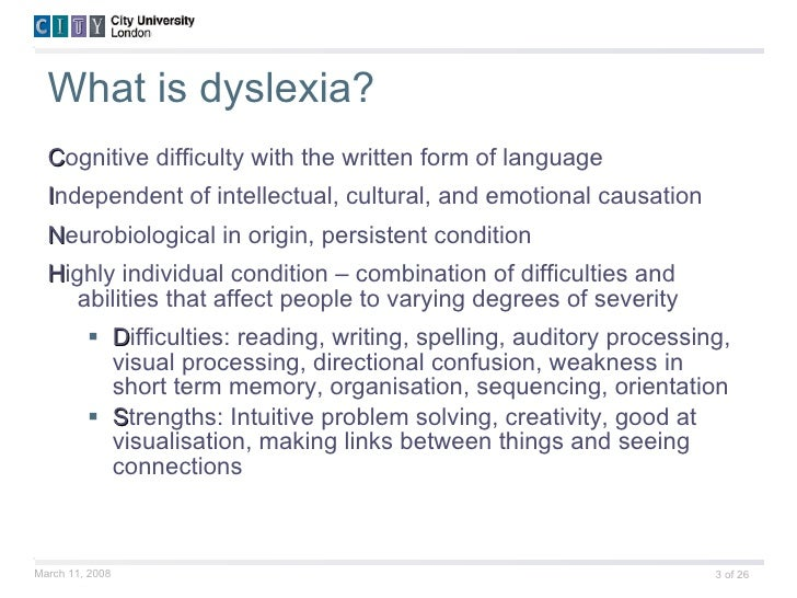 an analysis of the topic of the difficulty affecting dyslexic people Gap analysis/dyslexia  one interpretation is that a specific magno-cellular cell type develops abnormally in people with dyslexia (3)  difficulty remembering .
