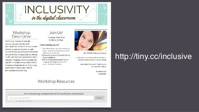 Inclusivity in the Digital Classroom Slide 2