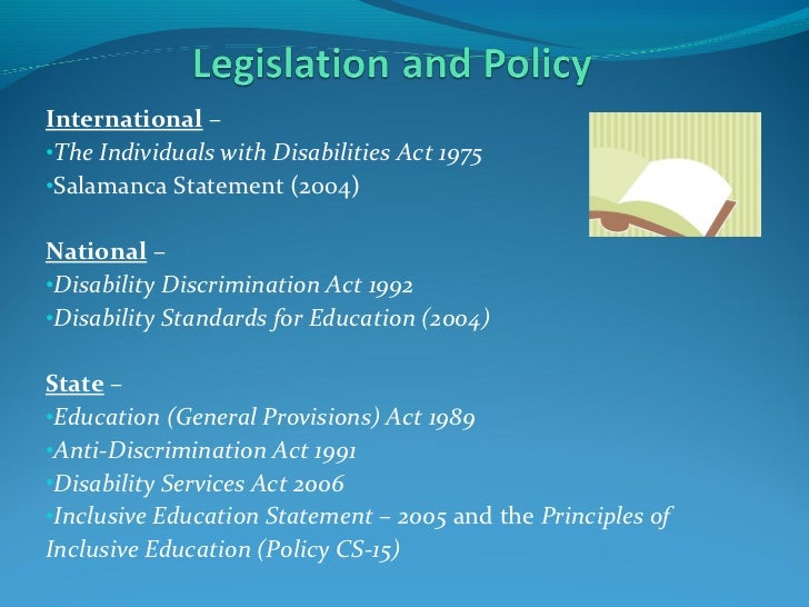 Disability discrimination act 1992