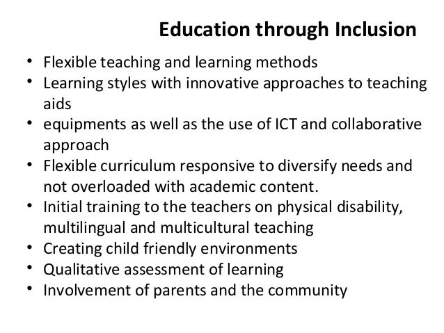 "inclusive learning and learning styles education essay The topic researched is inclusive learning, looking also into differentiation, and leaning styles ""inclusive education means all students ."