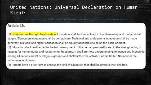 United Nations: Universal Declaration on Human Rights