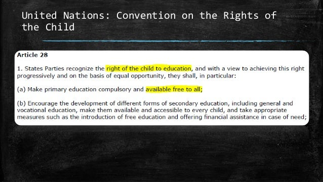 United Nations: Convention on the Rights of the Child