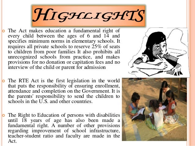 Inclusive education and right to education in India