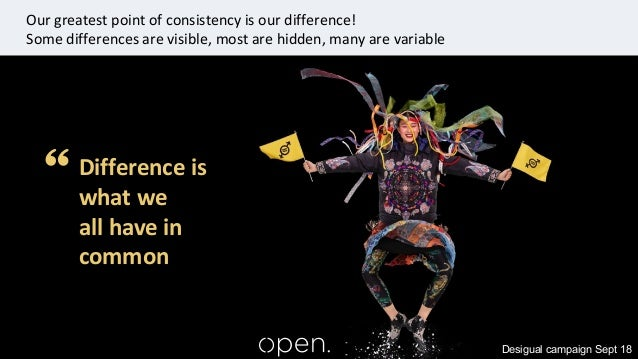 ©Open Inclusion 2020 9 Desigual campaign Sept 18 Difference is what we all have in common Our greatest point of consistenc...