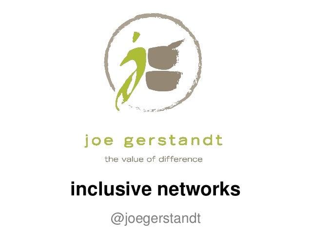 inclusive networks@joegerstandt