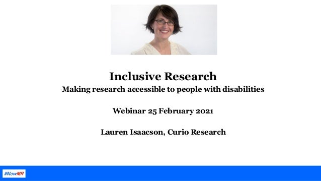 Inclusive Research – Making research accessible to people with disabilities