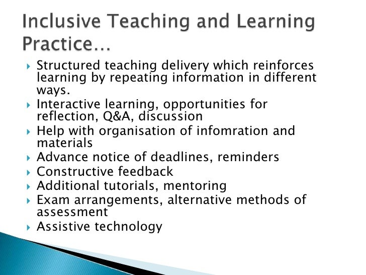 inclusive learning in practice Inclusive education for students with disability a review of the best evidence in relation to theory and practice a what works for kids evidence review.