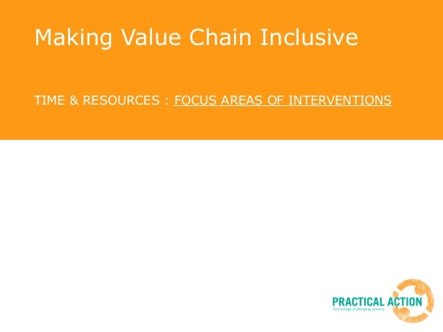 Making Value Chain Inclusive TIME & RESOURCES : FOCUS AREAS OF INTERVENTIONS Sharad Rai, 11 November 2010, ICIMOD