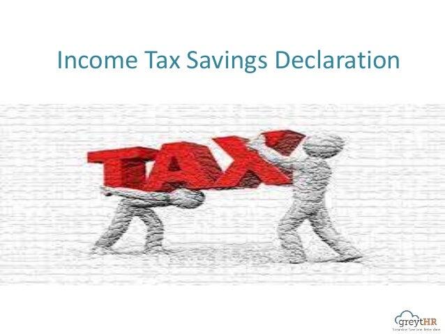 Income Tax Savings Declaration