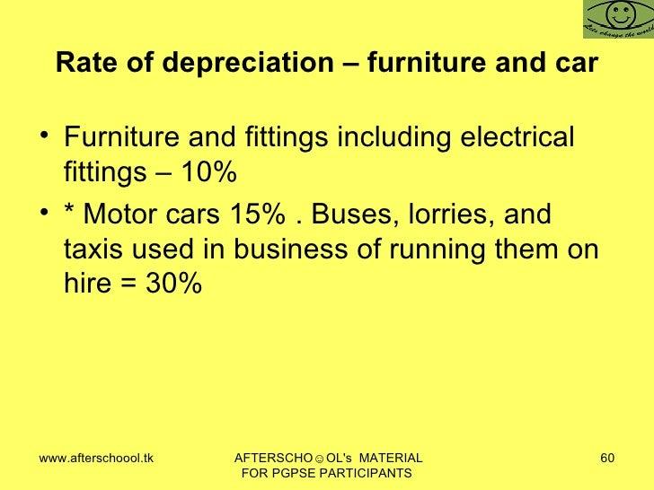 Furniture Depreciation Rate Osetacouleur