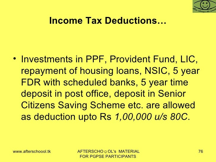 In Come Tax Law Of India