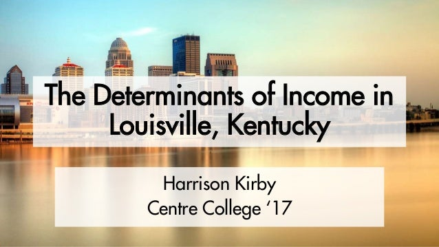 The Determinants of Income in Louisville, Kentucky Harrison Kirby Centre College '17