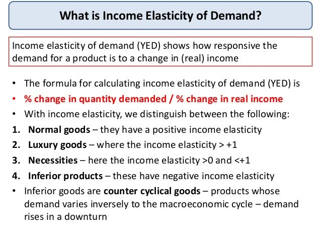 Income Elasticity Demand
