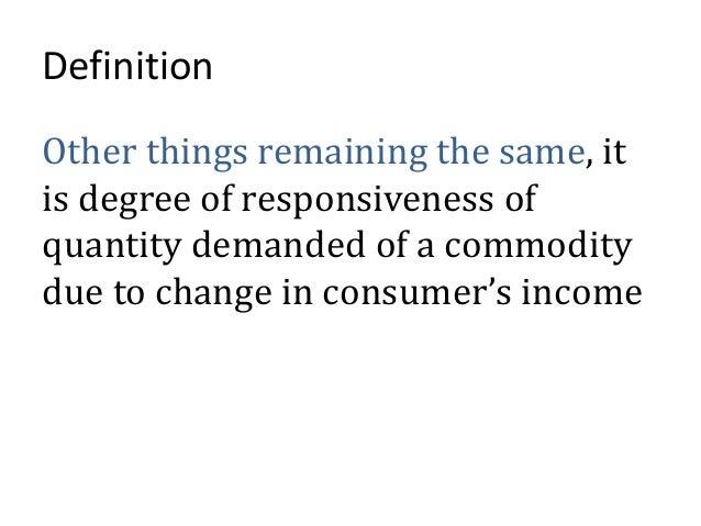 Income elasticity of demand Slide 2