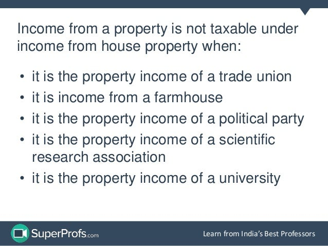 Income from House Property: Deductions allowed