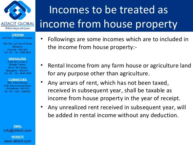 income from house property 2018-7-2 a person's gross total income chargeable to tax various heads and one of these heads of income is 'income from house property.
