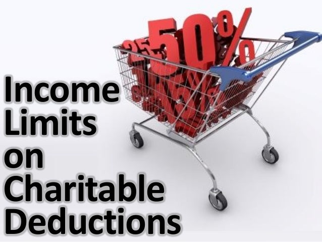Income Limits on Charitable Deductions