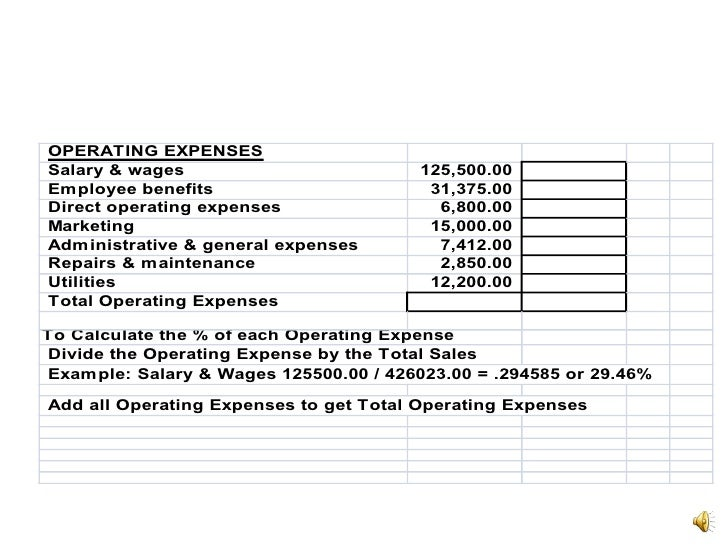 restaurant profit and loss statement example