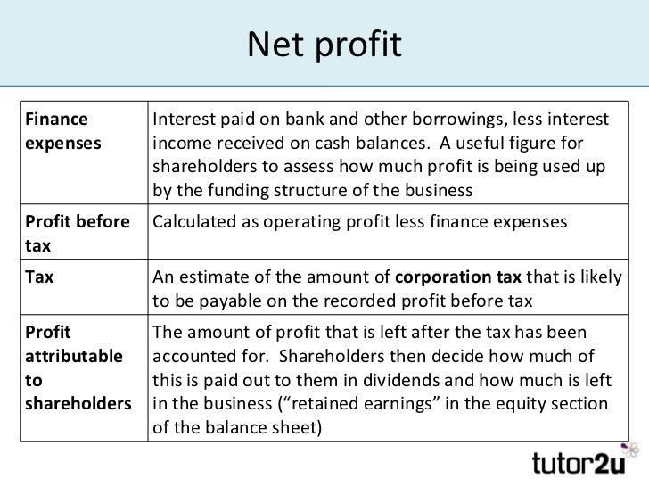 income statement basics