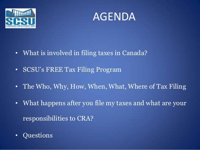 Income tax benefits session 2014 4 agenda what is involved in filing taxes in canada ccuart Image collections