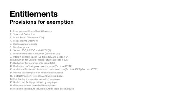 Income tax entitlements Slide 3