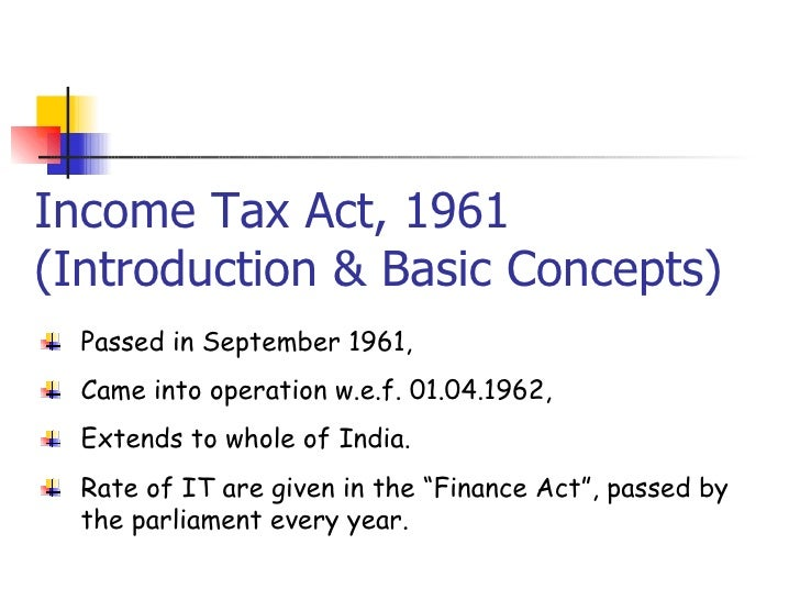 Definition of Income as per Income Tax Act