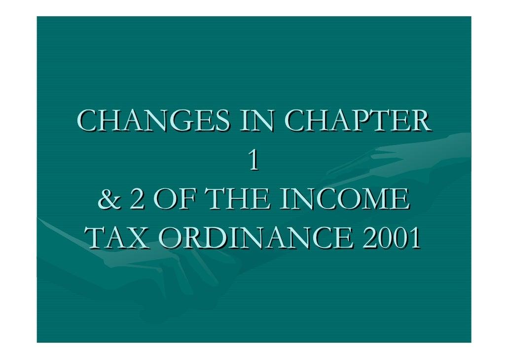 Income Tax Ordinance 2001 Slide 2