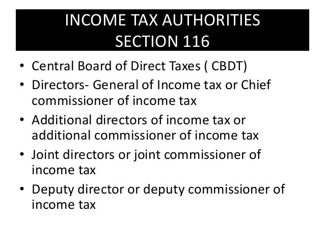 Income tax authorities under Income tax act 1961
