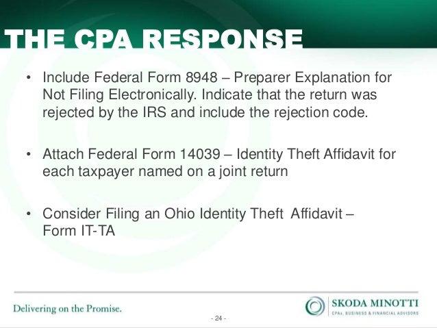 Form 8948 (paper file) letter instruction inclusion ...
