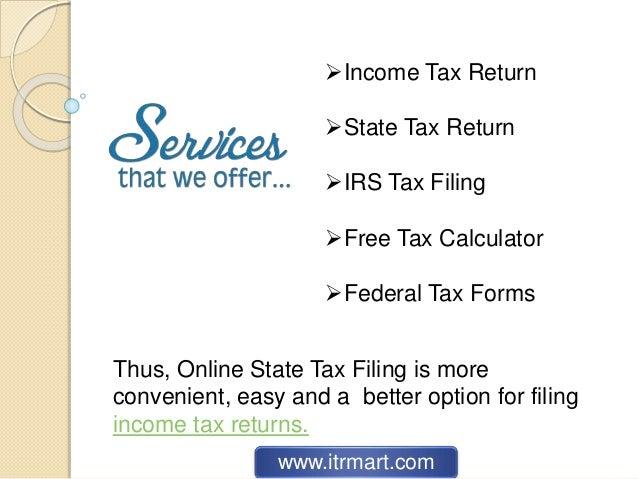 Filing Income Tax Return 2017-18 Online | State Tax Return