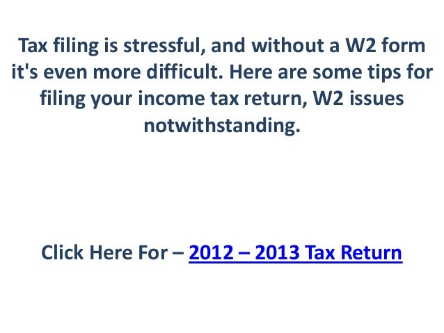 how to file tax return online w2